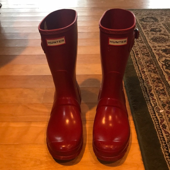 Short Red Hunter Boots